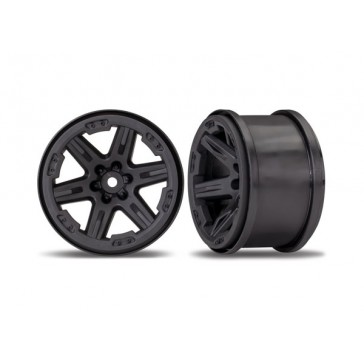 Wheels, Rustler 4X4 2.8 (black) (2)