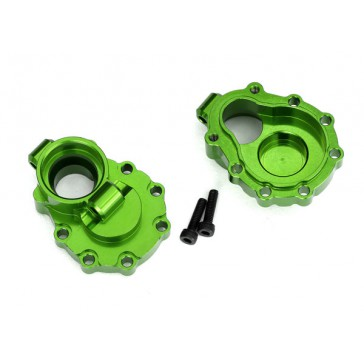 Portal housings, inner (rear), 6061-T6 aluminum (green-anodized) (2)/