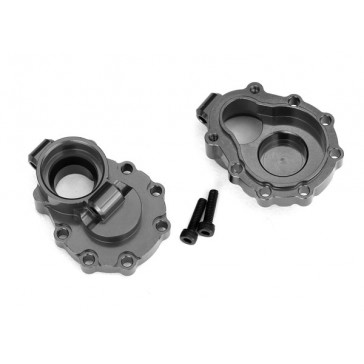 Portal housings, inner (rear), 6061-T6 aluminum (charcoal gray-anodiz
