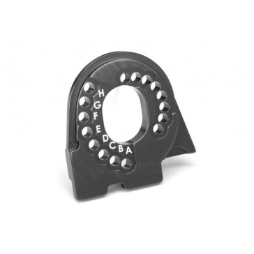 Motor mount plate, TRX-4, 6061-T6 alumininum (charcoal gray-anodized)