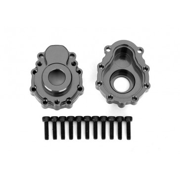 Portal housings, outer, 6061-T6 aluminum (charcoal gray-anodized) (2)