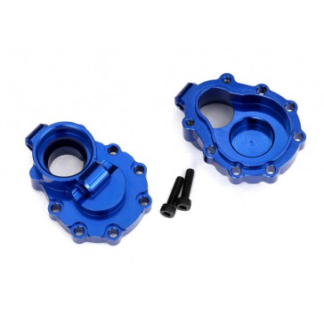 Portal housings, inner (rear), 6061-T6 aluminum (blue-anodized) (2)/