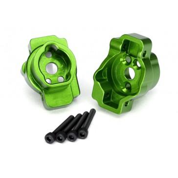 Portal drive axle mount, rear, 6061-T6 aluminum (green-anodized) (lef