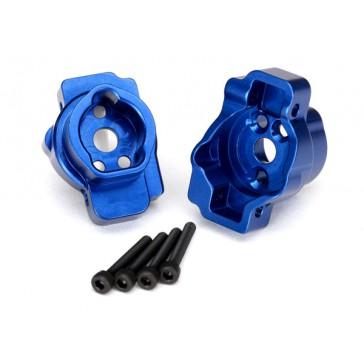 Portal drive axle mount, rear, 6061-T6 aluminum (blue-anodized) (left