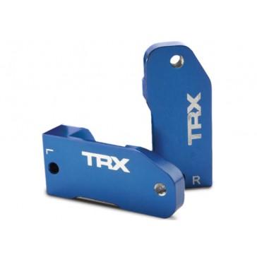 Caster blocks, 30-degree, blue-anodized 6061-T6 aluminum (le