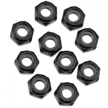 AXA1053 Nylon Locking Hex Nut M3 Black (10)