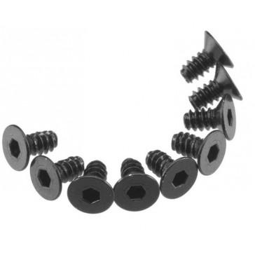 AXA463 Hex Socket Tap Flat Head M3x6mm Black (10)