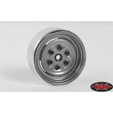 Vintage Yota 6 Lug Stamped Steel 1.55 Beadlock Wheels