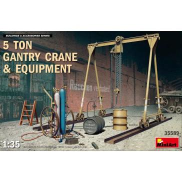 5 Ton Gantry Crane and Equip.  1/35