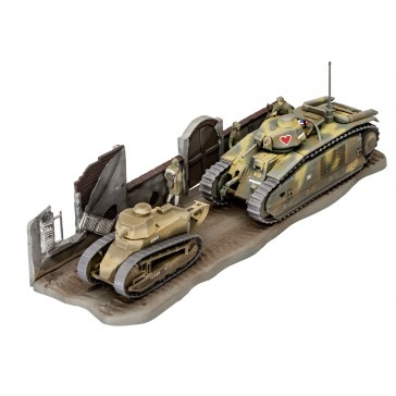 Char B.1 bis & Renault FT.17 1:76