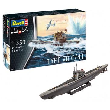 German Submarine Type VII C/41 1:350