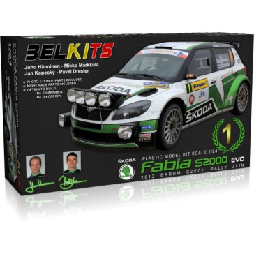 SKODA FABIA S2000 WINNER BARUM 2012 HANNINEN KOPECKY BARUM - 1/24 kit