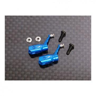 DISC.. Metal Blade Grip w/ angular-contacted bearing -Blue (MCPX)