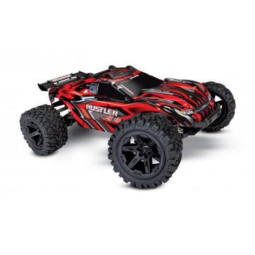 Rustler 4x4 XL-5 TQ (incl battery/charger), Red