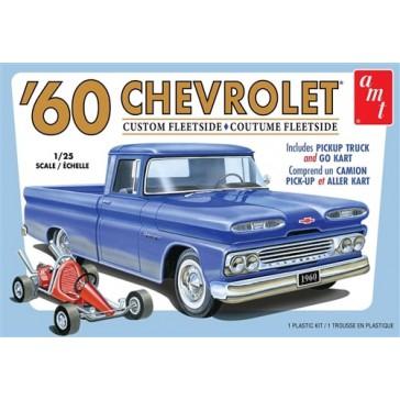 '60 Chevrolet Pickup & Kart 1/25