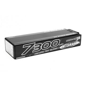HV Stock Spec GRAPHENE-3 7300mAh 7.6V LiPo - 130C/65C