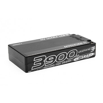 HV Ultra LCG Modified Shorty GRAPHENE-3 3900mAh 7.6V LiPo - 120C/60C