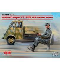 Lastkraftwagen 3.5t AHN with German Drivers 1/35