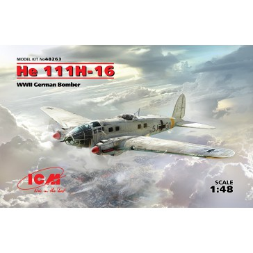 He 111H-16. WWII German Bomber