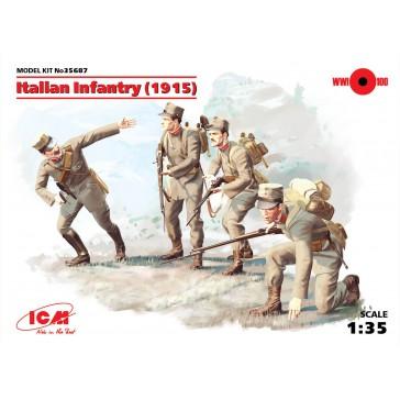 Ital. Infantry('15) (4 Fig.) 1/35