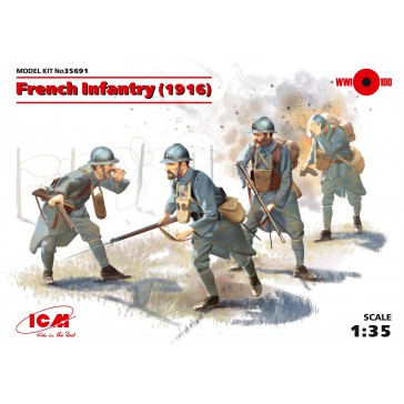 French Infantry (1916) (4) 1/35