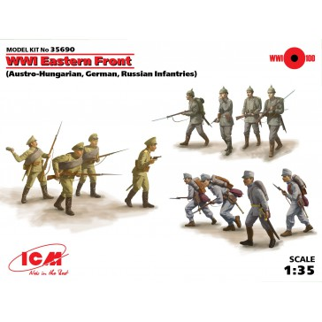 WWI East Front 12 figures 1/35