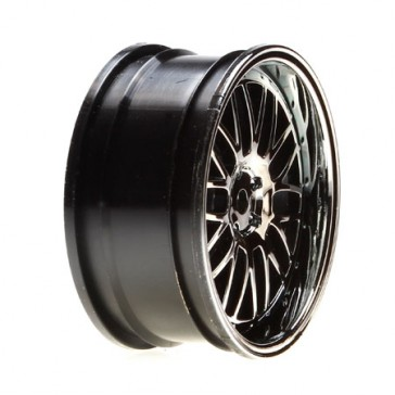 Wheel FR Deep Mesh 54x26mm Silver/Chrome (2)