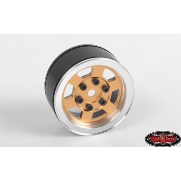 Six-Spoke 1.55 Internal Beadlock Wheels (Gold)