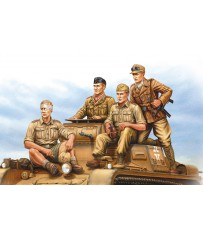 German Tropical Panzer Crew 1/35