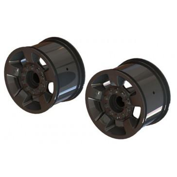 "Mt 2.8"" Wheel 14mm Hex (Black Chrome/2)"