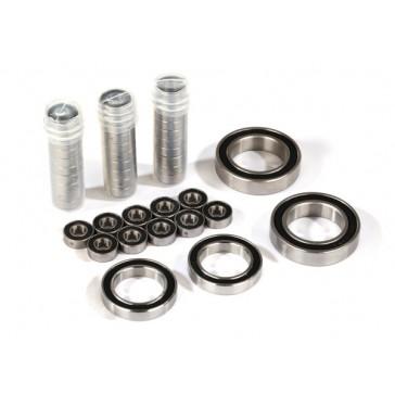 Ball bearing set, TRX-4 Traxxƒ?½, black rubber sealed, stainless (con