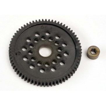 Spur gear (66-Tooth) (32-Pitch) w/bushing