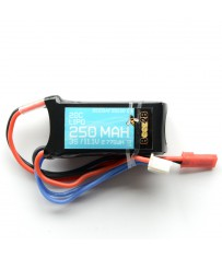 Batterie Lipo 3S 11.1v 250mAh 20C (17 x 22 x 40mm - 25g)