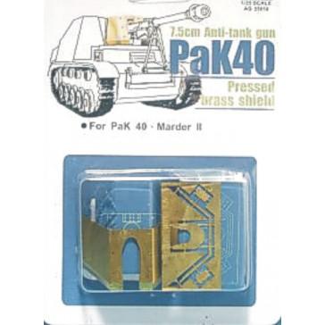 Brass Shield for PAK 40 1/35