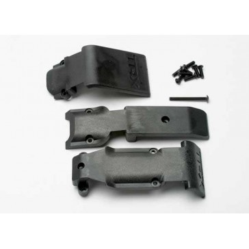 Skid plate set, front (2 pieces, plastic)/ skid plate, rear