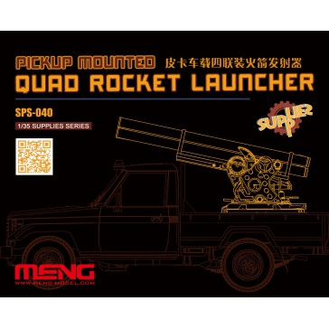 Pickup Mounted Quad Rocket Launcher (RESIN) - 1:35