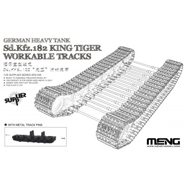 German Heavy Tank Sd.Kfz.182 King Tiger Workable Tracks - 1:35