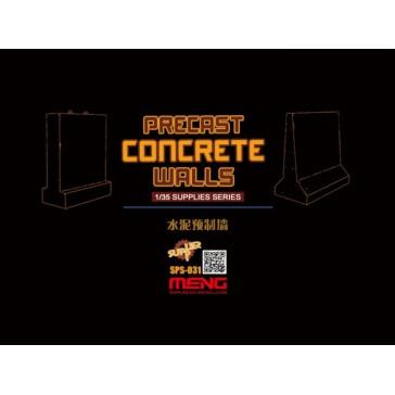 Precast Concrete Walls (resin)  - 1:35
