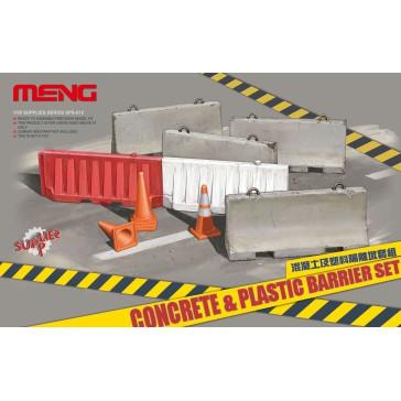 Concrete & plastic barrier set  - 1:35
