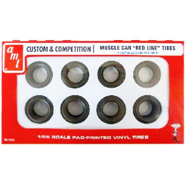 Red Lines Tires Parts Pack     1/25