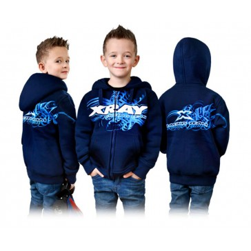 JUNIOR SWEATER HOODED WITH ZIPPER - BLUE (S)