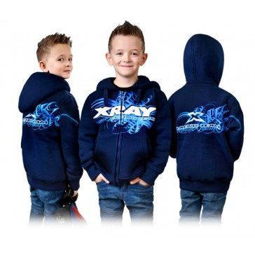 JUNIOR SWEATER HOODED WITH ZIPPER - BLUE (M)