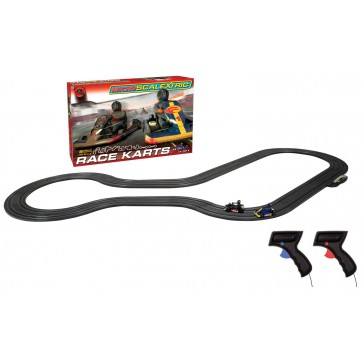 MICRO SCALEXTRIC RACE KARTS MAINS POWERED