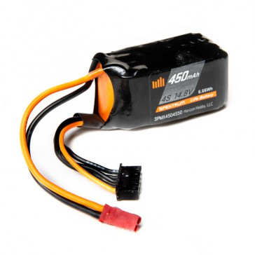 450mAh 4S 14.8V 50C Smart LiPo Battery. JST