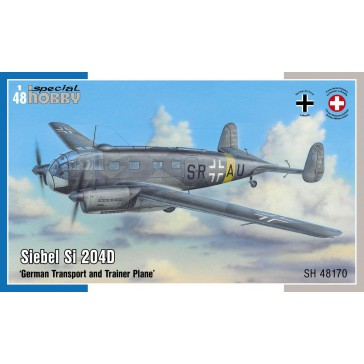 Siebel Si 204D German Transport and Trainer Plane   1:48