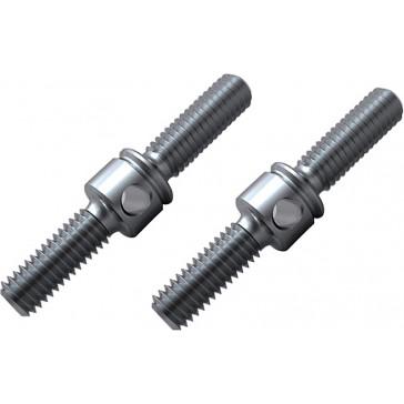 Turnbuckle Rod - 22mm, Titanium  (2pcs)
