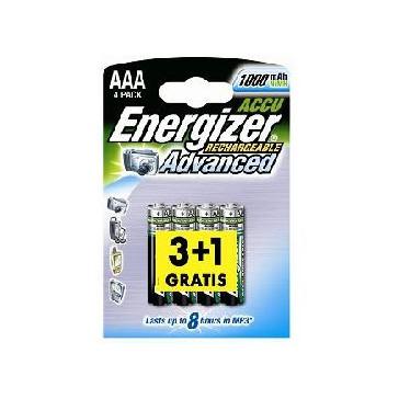 3+1 gratis Accus AAA Energizer 1000 mAh