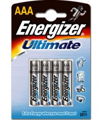 4 Piles Energizer Ultimate AAA + 2 gratuites