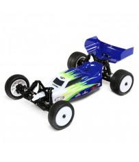 Mini-B, Brushed, RTR: 1/16 2WD Buggy, Blue/White