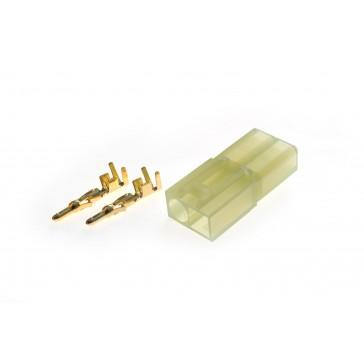 Connector : male Micro Tamiya plug tin plated terminals (10pcs)
